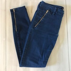 Guess skinny zipper ankle jeans